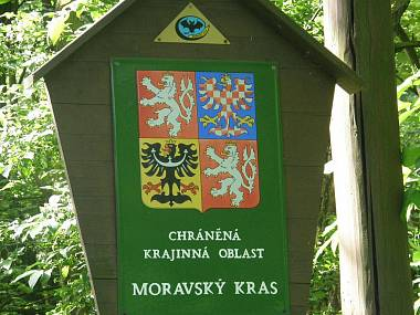 Moravský kras zrcadlově převrácen